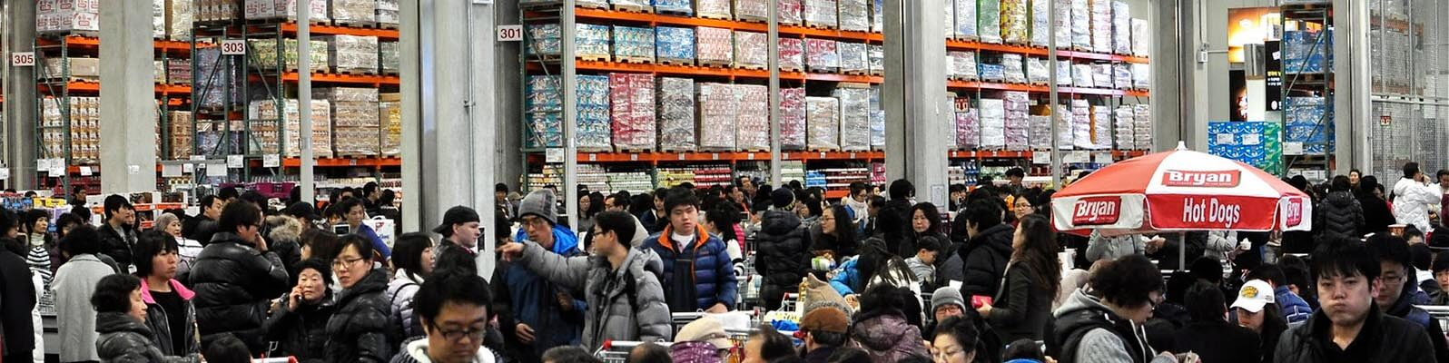 distressed shoppers at a costco in korea