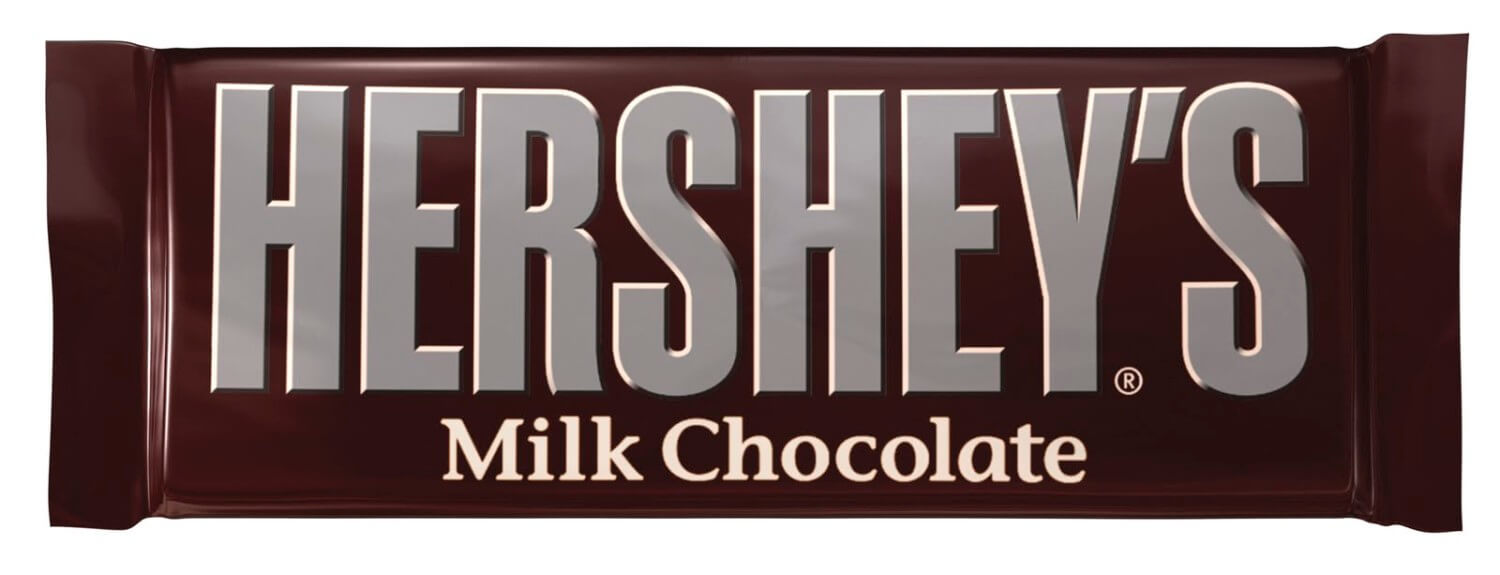 wrapped hershey bar